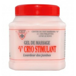 Gel de massage 'V' Cryo stimulant jambes lourdes- JRS