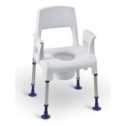 Chaise percée de douche modulaire Aquatec Pico commode - Invacare