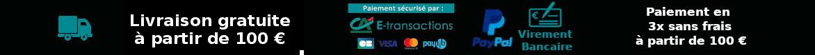 Livraison - Moyens de paiement - paiement en 3 fois sans frais